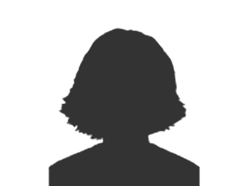 A silhouette of a woman.