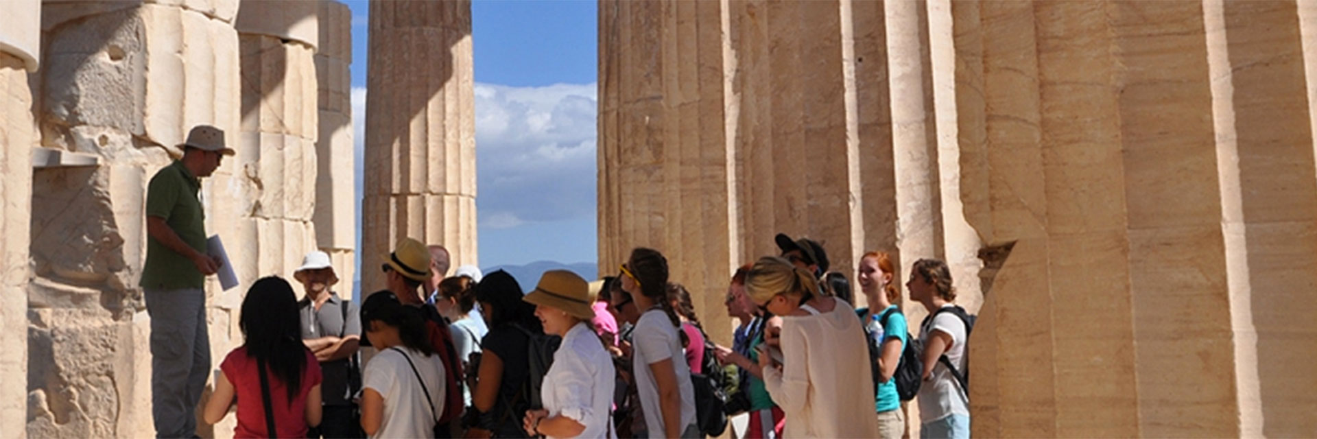 College of Design students learn about architecture in Greece.