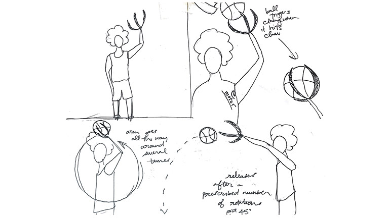 How To Build A Trick Shot Machine For A Harlem Globetrotter