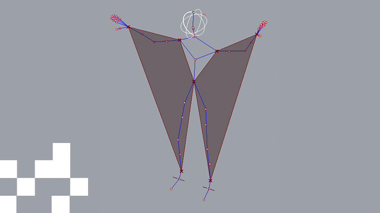 A parametric model of a Carnival costume.